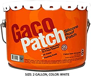 Gaco Patch Fiber Reinforced Silicone Roof Patch - 2 Gallon Pail (White)