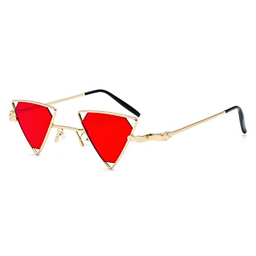 2bbebe93ea juqilu Metal Steampunk Style Sunglasses Men Women Cool Glasses Fashion  Triangle Hollow Out