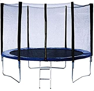 Round Trampoline with Safety Net Fence and Ladder, 426 cm