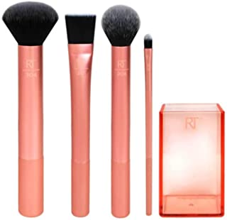 Real Techniques Flawless Base Brush Set With Ultra Plush Custom Cut Synthetic Bristles and Extended Aluminum Ferrules to B...