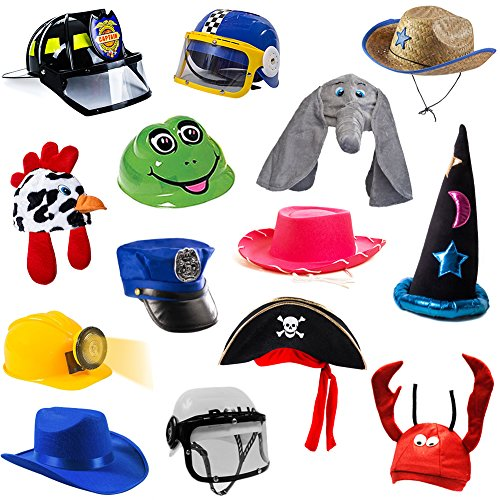 Tigerdoe Dress Up Hats for Kids - Kids Dress Up - Costume Hats (5 Pc Set) Assorted Party Hats