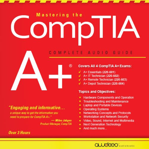 Mastering the CompTIA A+ audiobook cover art