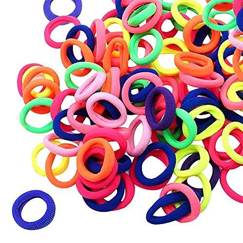 100Pcs Baby Hair Ties, Toddler Hair Ties for Girls Kids, Elastic Hair Bands Ponytail Holder,Hair Ties Ponytail Holders Headband Scrunchies Hair Accessories(Assorted Colors)