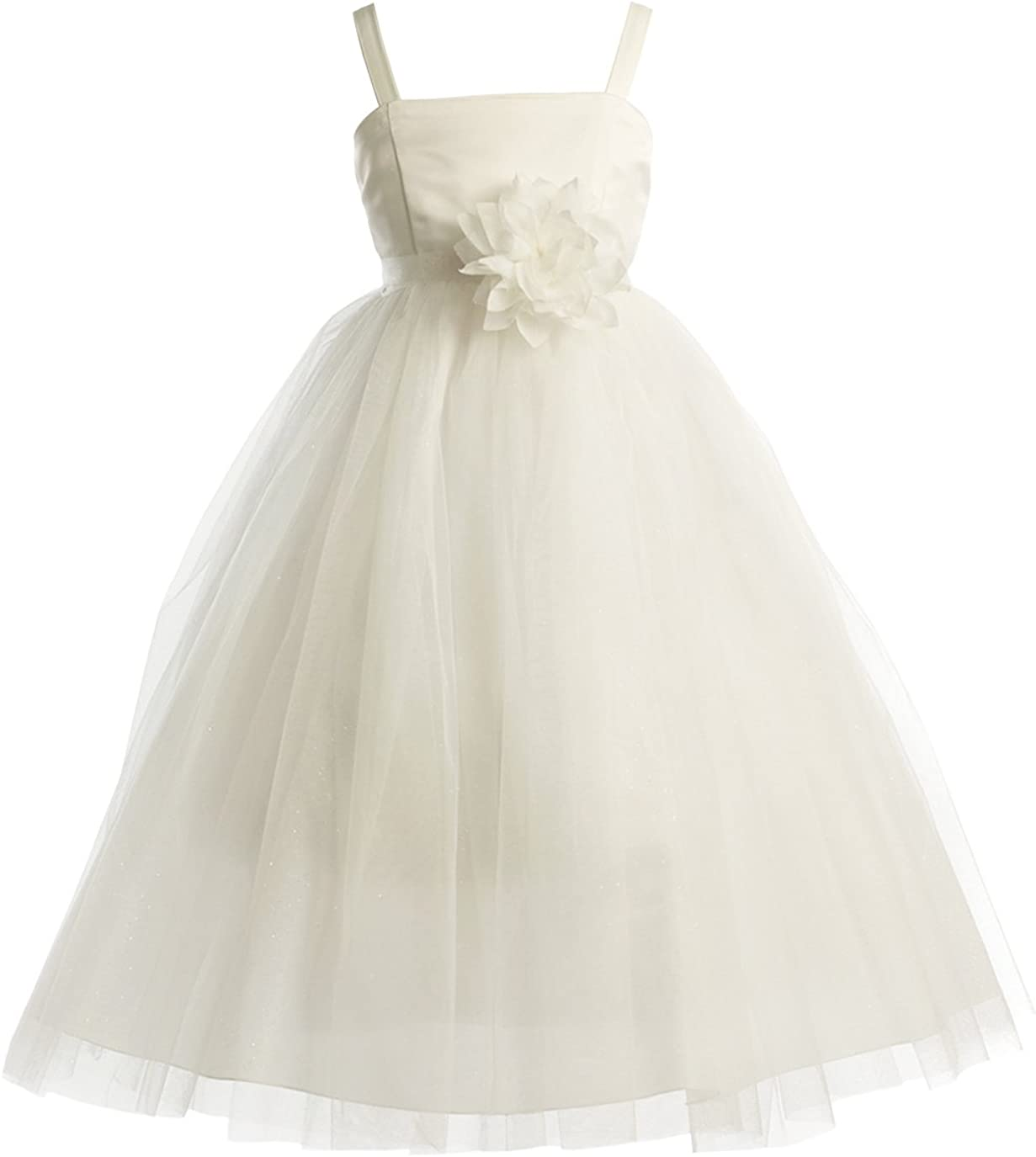 Joy Kids Girls Two Tone Tulle Special Occasion Flower Girl Dress sizes 2 to 16