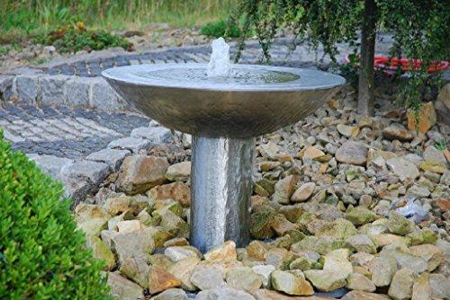 'Fontaine en acier inoxydable sprudelnde Bol avec Socle \