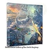 Thomas Kinkade Tinker Bell & Peter Pan 35,6x 35,6x