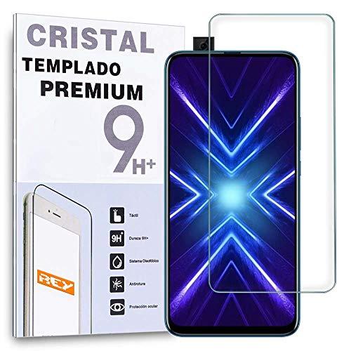 REY Protector de Pantalla para Honor 9X - 9X Pro, Cristal Vidrio Templado Premium