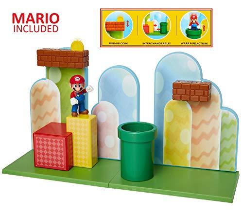 "SUPER MARIO Nintendo Acorn Plains 2.5"" Figure Playset with Feature Accessories"