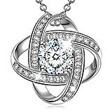 Alex Perry regalo di natale per donna collana di zirconi cubici argento 925 regali san valentino per lei gioielli donna regali natale regalo di compleanno per le donne ragazze amica mamma lei