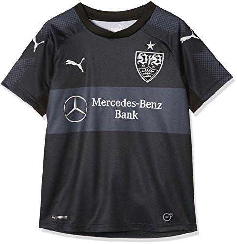 PUMA Kinder VfB Kids 3rd Repl.Shirt w.Sponsor Shirt, Black Black, 176