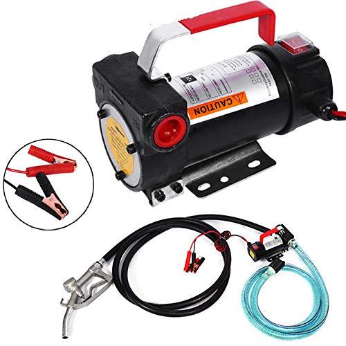 CLAUKING Kraftstofftransfret-Pumpe, 12 V DC, Set mit elektrischem Ölwechsel, Diesel, Biodiesel Keroseno mit Kraftstoffdüse, Kraftstofffilter, Batterieklemmen