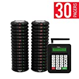 Complete Coaster Paging System For Restaurants, Hospitals & Hotels | Consists of: 1 Transmitter, 2 Charging Bases & Long Range Pagers (Set of 30 Units) | Up To 2 Miles in Range by PagerTec