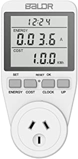Electricity Usage Monitor AU Plug Power Meter Sockets with Digital LCD Display,Overload Protection and 7 Display Modes for...