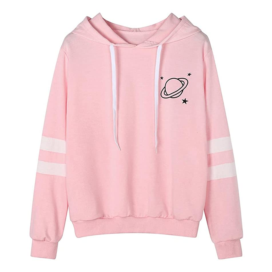 HGWXX7 Women Hoodie Sweatshirt Fashion Printed Long Sleeve Hooded Pullover Blouse Tops