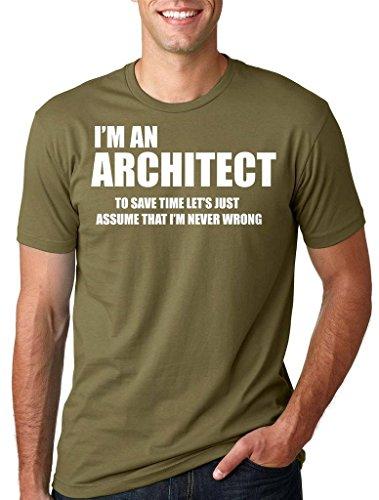Silk Road Tees Arquitecto Masculino Profesión Ocupacional Camiseta de Navidad Camiseta del Regalo de la Camisa