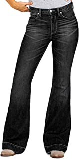 YOUCAI Mujer Pantalones de Campana Jeans Elástico Pantalones Bootcut Pantalones Largos Vaqueros Casuales Pantalones de Mez...