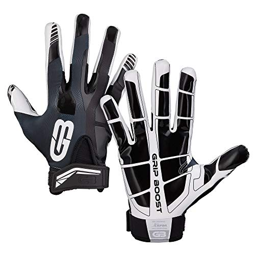 GRIP BOOST Stealth Fußball Handschuhe Pro Elite (Black, Medium)