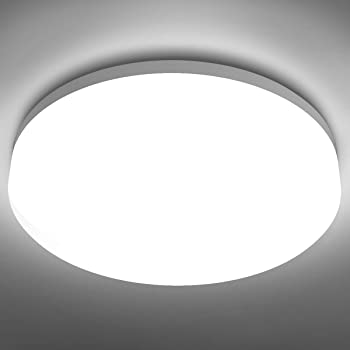 Amazon Com Le Flush Mount Ceiling Light Fixture Waterproof Led Ceiling Light For Bathroom Porch 5000k Daylight 15w 100w Equivalent 1250lm Ceiling Lamp For Kitchen Bedroom Living Room Hallway Non Dimmable Home Improvement