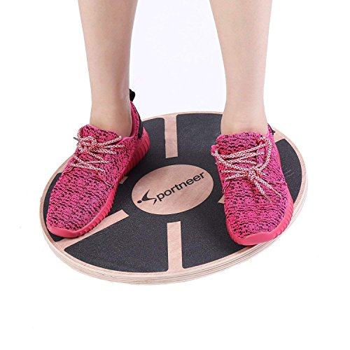 Sportneer Wooden Balance Board, 40cm Exercise Balance & Stability Trainer (Nero)
