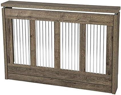 TOP KIT | Cubre radiador Cristian 3121 | Medidas exterior 120 x 83,5 x 18,5 cm | Medidas interior 114,5 x 81 x 15 cm | Cubreradiador moderno | Roble Puccini