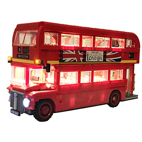 TETAKE Licht Beleuchtung LED Beleuchtungsset für Lego Londoner Bus - 10258 (Nicht Enthalten Lego Modell)