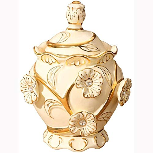 Why Choose FSGHJJKN Exquisite Oriental Ceramic Food Storage Jar Canister Food Canisters, Loose Tea T...