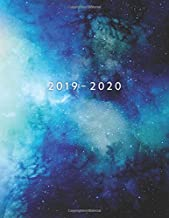 2019 - 2020: Weekly Planner Starting September 2019 - August 2020   Week To View With Hourly Schedule   8.5 x 11 Dated Agenda   Appointment Calendar   Organizer Book   Blue Galaxy
