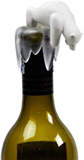 FuLov 2PCS Wine Stopper, Reusable Wine Accessories, Can Change Polar Bear Shape Wine Bottle Dust Plug Champagne Stopper, Red Wine Champagne Beer Saver Stopper