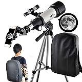 Telescope for Kids 70mm Aperture 400mm AZ Mount Astronomical Refractor Portable Telescope for Kids...