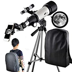 """HIGH MAGNIFICATION: Comes with two 1.25"""" eyepieces K20mm and K9mm for 20-power and 44-power views and includes free 1.25 inch 10mm Smartphone Eyepiece Adapter,5x24 finderscope with mounting bracket and cross-hair lines inside make locating objects ea..."""