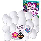 Momentum Brands DIY Easter Eggs Kits ~ Set of 48 Bulk Easter Eggs with Easter Egg Velvet and Eggaround Wrapper Kits (DIY Easter Eggs Plastic Eggs)