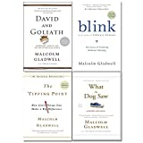 Malcolm Gladwell Collection 4 Books Set (David and Goliath, Blink, The Tipping Point, What the Dog Saw)