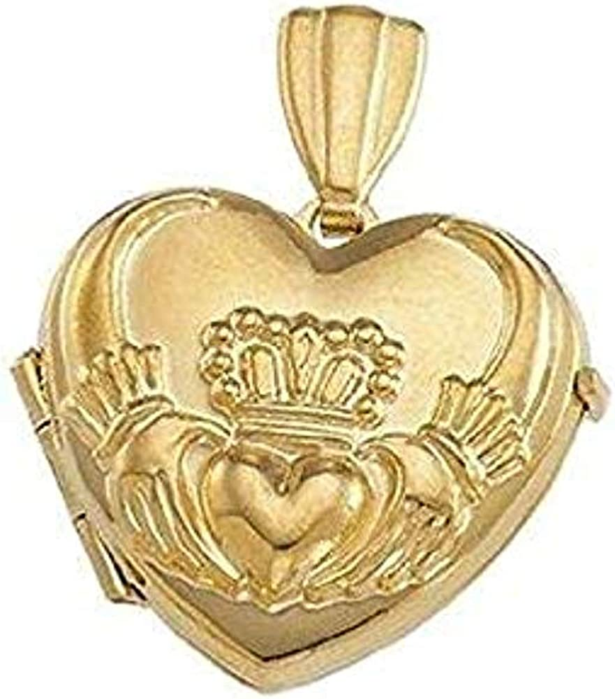 Max 42% OFF PicturesOnGold.com Solid 14K Yellow Gold Small 5 ☆ popular Claddagh Heart Lo