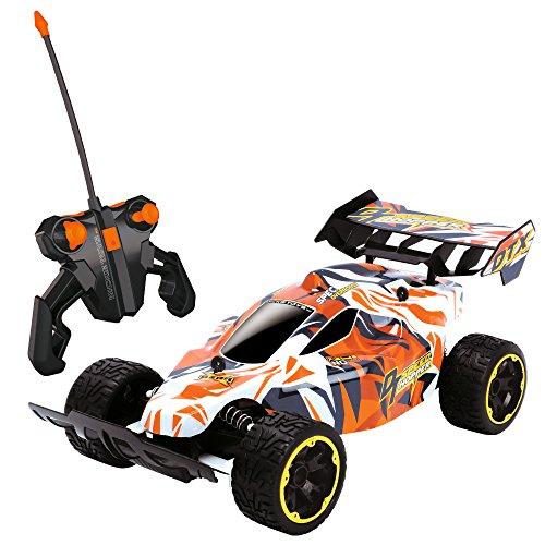 Dickie Toys RC Speed Hopper, ferngesteuertes Spielzeugauto mit gefederten Radgabeln für Jungen und Mädchen ab 6 Jahren, 2-Kanal Funkfernsteuerung, Rennauto mit 10 km/h für Stunts, Draußen und Drinnen