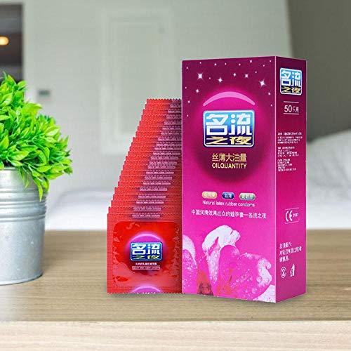Shakala 50 / 100PCS Kondom Pasante Naturlatex Kautschuk Kondom Ultradünne, glatt geschmierte Verhütungskondome für Männer