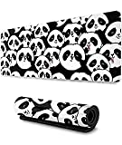 Cute Pandas Gaming Mouse Pad XL,Extended Large Mouse Mat Desk Pad, Stitched Edges Mousepad,Long Non-Slip Rubber Base Mice Pad,31.5X11.8 Inch
