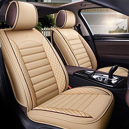 YSHUAI Fundas de asiento y fundas de asiento de piel sintética de 5 plazas para Dacia Duster Sandero Stepway 2 Lodgy Logan Dokker 2 Almera Juke Micra Navara Qashqai X-Trail negro + W.