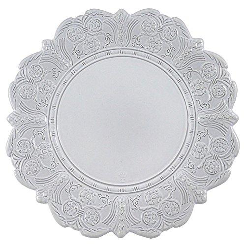Faiencerie de nider Badonviller Grand Siècle Assiette pour petit déjeuner et à dessert Blanc 22 cm