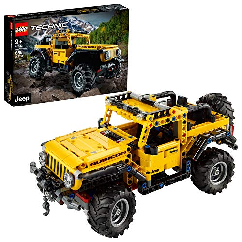 LEGO Technic Jeep Wrangler 42122; an Engaging Model Building Kit for Kids Who Love High-Performance Toy Vehicles, New 2021 (665 Pieces)