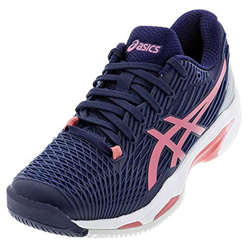 ASICS Women's Solution Speed FF 2 Tennis Shoes, 6.5M, Peacoat/Smokey Rose