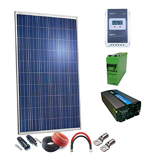 Kit Solar 12v Plus 500w Hora 2500w Dia Inversor Onda Pura 1000w 2000w Baterias AGM TFS 500AH