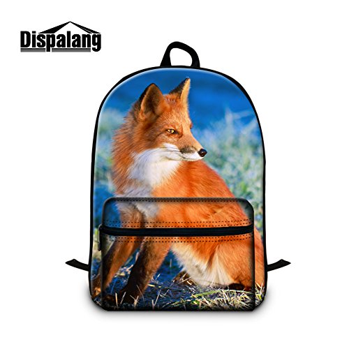 GIVE ME BAG Generic Fox School Backpack with Laptop Compartment for Children Outdoor Back Pack for Youth