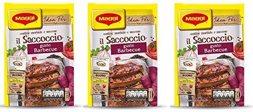 3X Maggi il Saccoccio Barbecue Powdered Spices for Baked Pork Ribs 34g Soft and Tasty Pork Ribs Powder Flavor