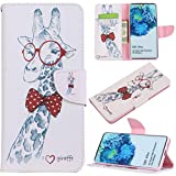 Galaxy S20 Ultra Case, iYCK Premium PU Leather Flip Folio Magnetic Closure Protective Shell Wallet Case Cover for Samsung Galaxy S20 Ultra 5G 6.9 inch 2020 with Kickstand Stand - Giraffe