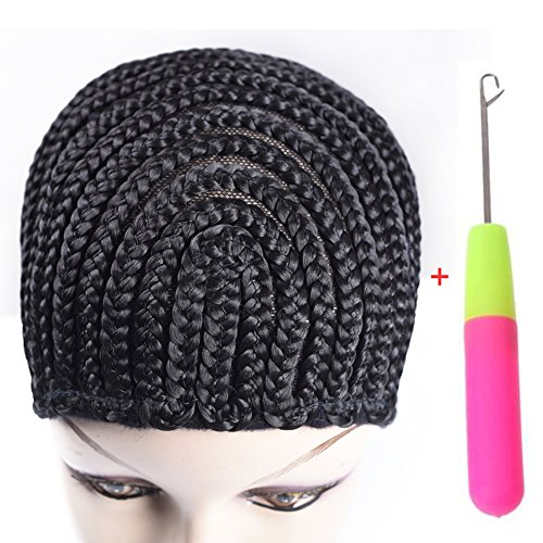 Refined Braided Wig Caps Crotchet Cornrows Cap For Easier Sew In Caps for Making Wig Glueless Hair Net Liner Crochet Wig Caps(Cornrows Caps 1pcs)