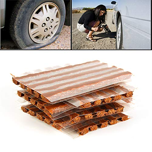 cuigu 10pcs strisce di gomma di riparazione di pneumatici, kit di riparazione pneumatici auto-vulcanisant Kit di strumenti di riparazione di pneumatici per auto