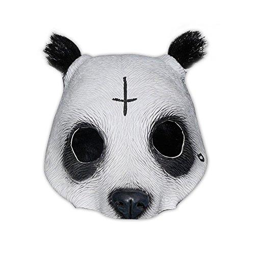 shoperama Originalgetreue Panda Latex-Maske in Lebensmittelqualität