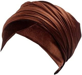 Qhome Luxury Pleated Velvet Turban Hijab Head Wrap Extra Long Tube Indian Headwrap Scarf Tie
