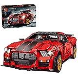 Xshion Bloques de construcción de piezas de montaje de coche para Ford Mustang Shelby GT500, 3386 + Tile Technik coche deportivo, coche de carreras, modelo compatible con la técnica Lego.