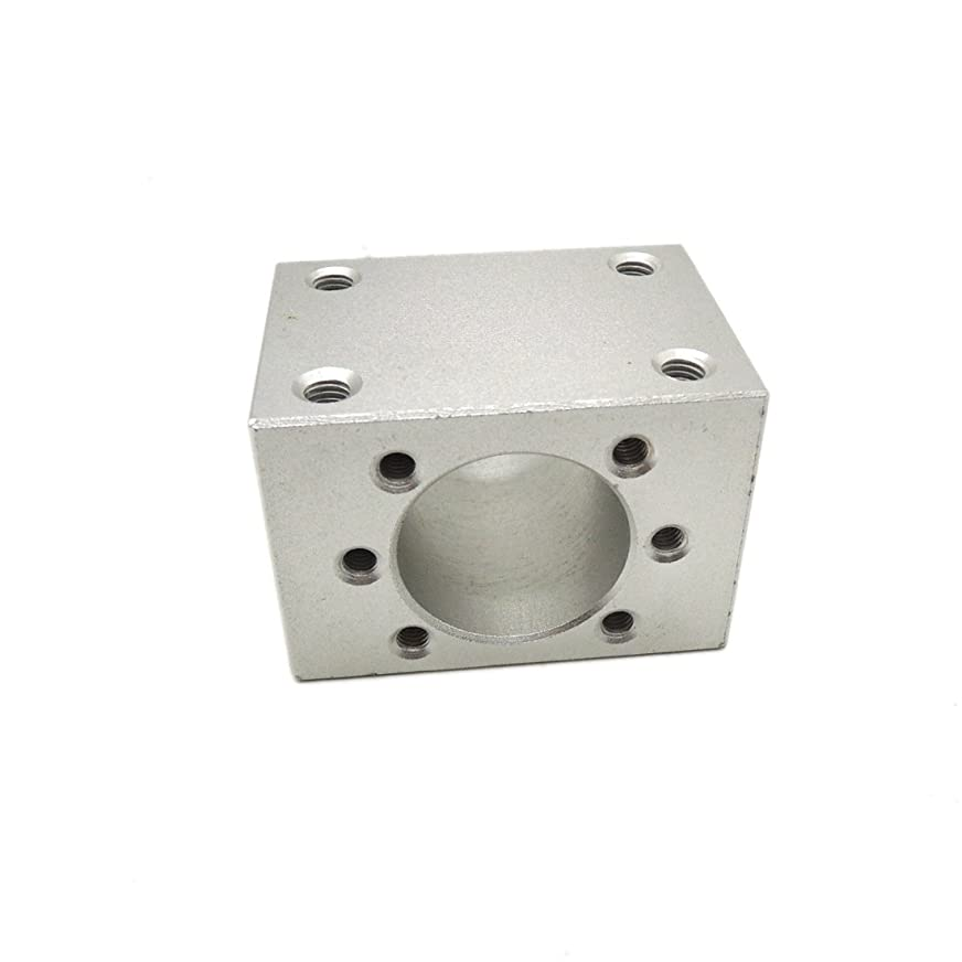 インデックス明るいインセンティブアルミニウム合金ボールねじナットハウジング取付sfu1204ボール直径22 mmのcnc部品内に適合するブラケット